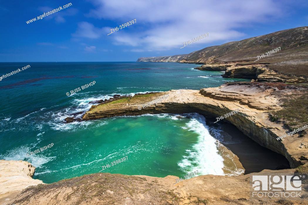 Stock Photo: Lobo Canyon Beach, Santa Rosa Island, Channel Islands National Park, California USA.