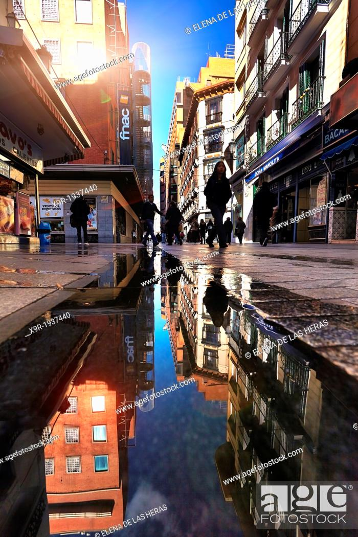 Stock Photo: Carmen street near Puerta del Sol. Madrid. Spain.