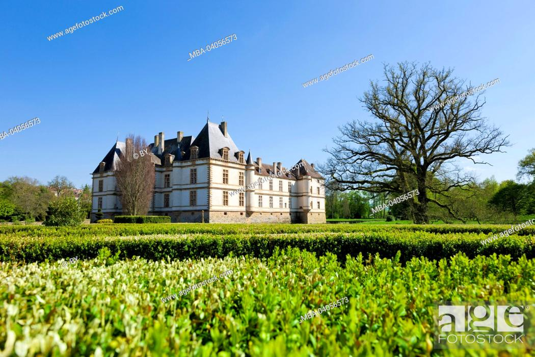 Stock Photo: Chateau Cormatin with castle grounds, Northwest view, France.