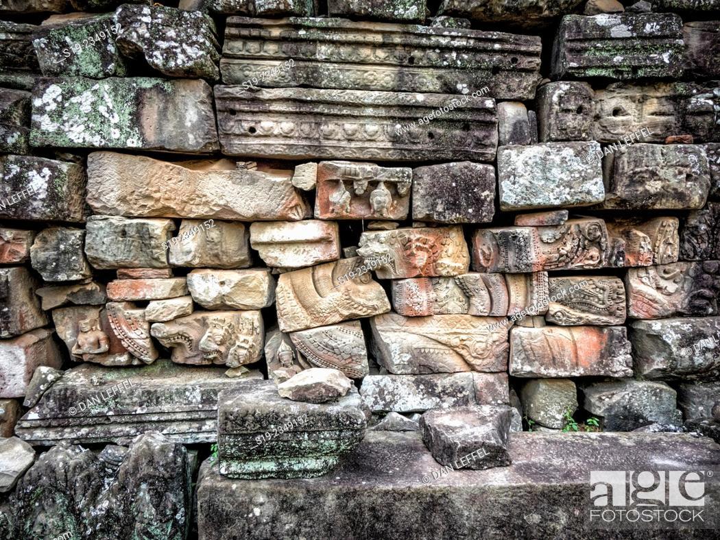 Stock Photo: Bayon Temple Angkor Wat.