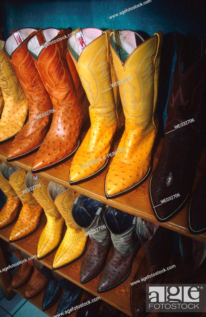 Stock Photo: Boots, Hermosillo. Sonora, Mexico.