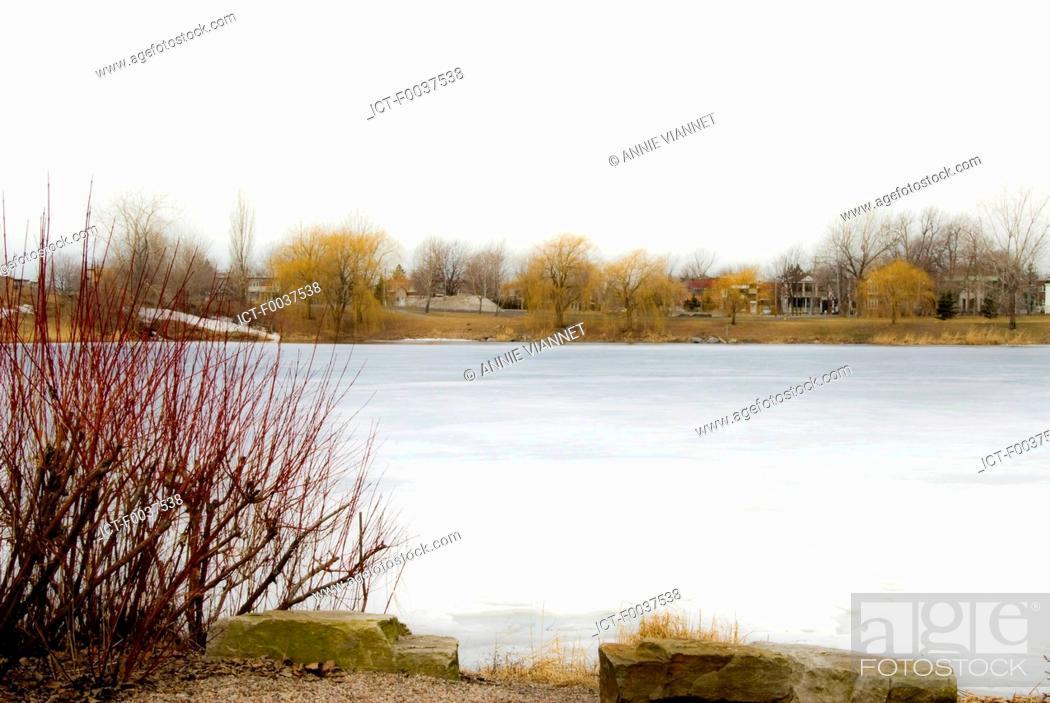 Stock Photo: Canada, Quebec, Montreal, rapids park.