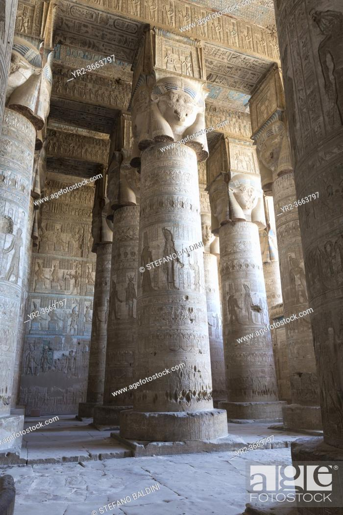 Imagen: Outer hypostyle hall, temple of Hathor, Dendara, Egypt.