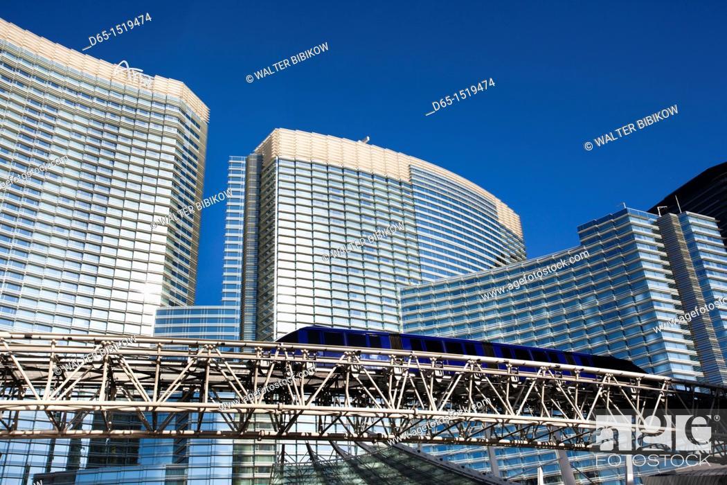 Stock Photo: USA, Nevada, Las Vegas, CityCenter, Aria Hotel , morning.
