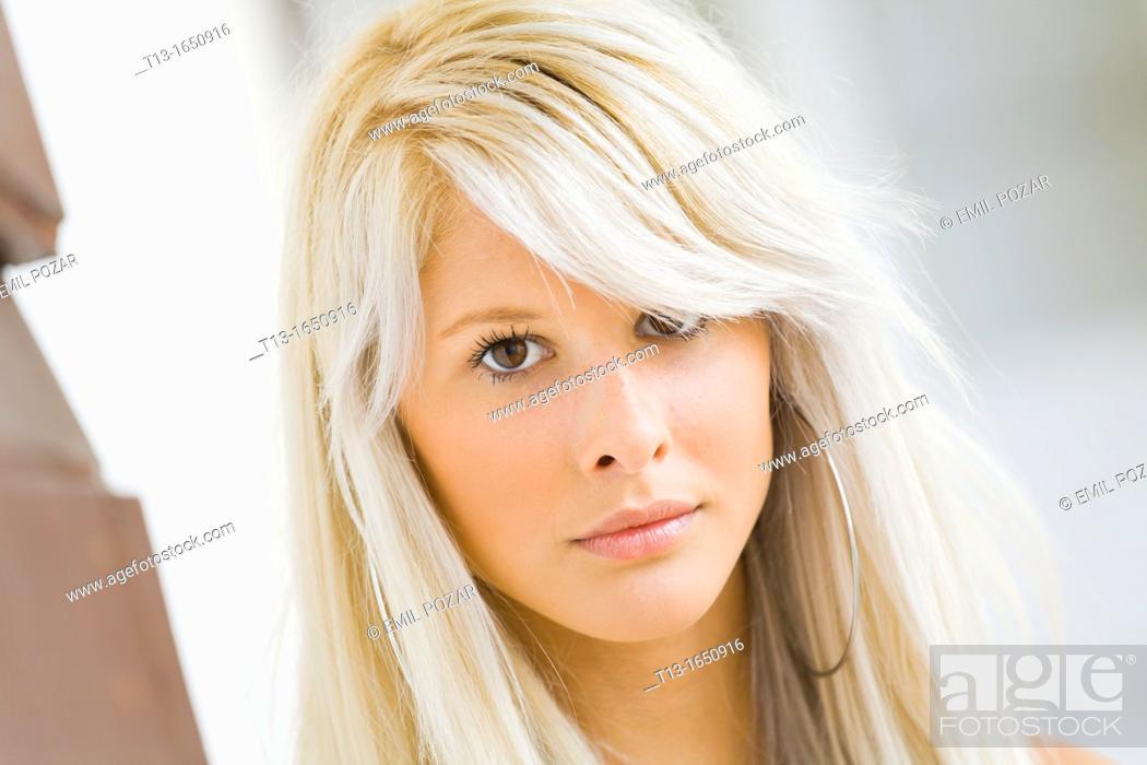 Stock Photo: Female teenager portrait.