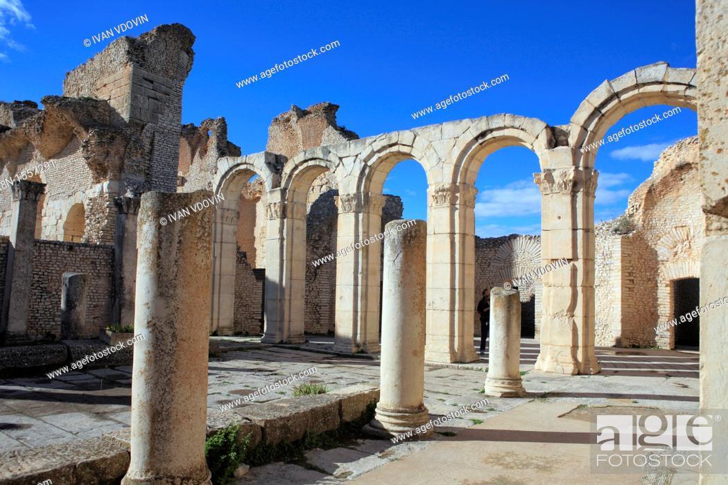 Stock Photo: South baths 2nd century, Maktar, Tunisia.