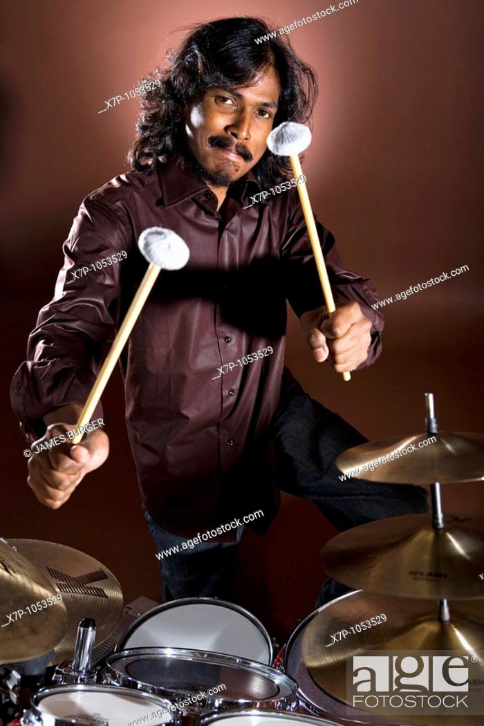 Stock Photo: Indonesian Drummer.