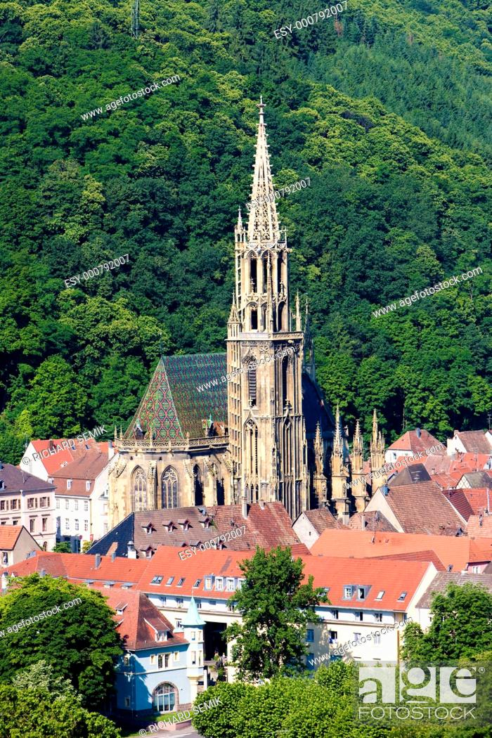 Stock Photo: Thann, Alsace, France.