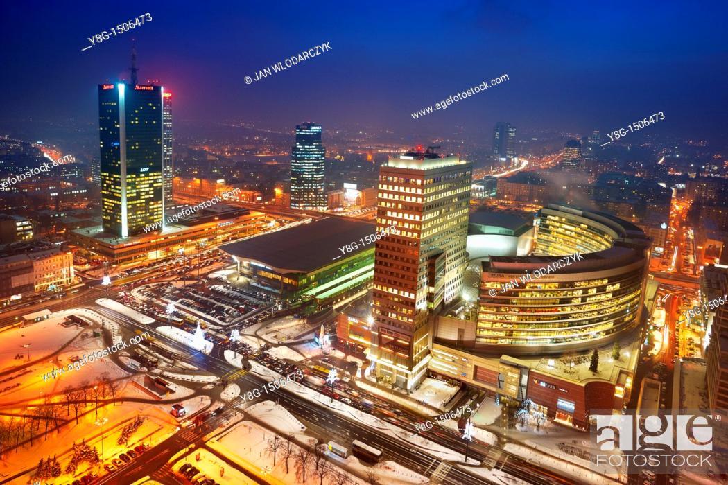 Stock Photo: Center of Warsaw, Poland, Europe.