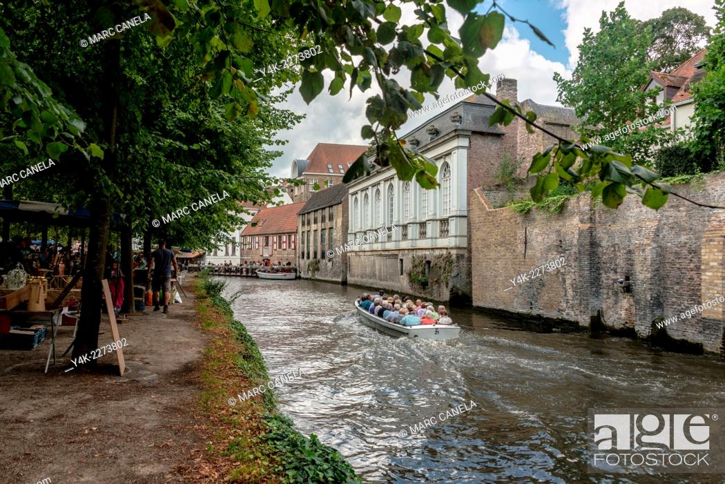 Stock Photo: Bruges is the capital and largest city of the province of West Flanders in the Flemish Region of Belgium. It is located in the northwest of the country.
