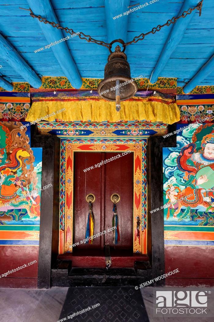 Stock Photo: Entrance to Stakna Monastery, Lei.