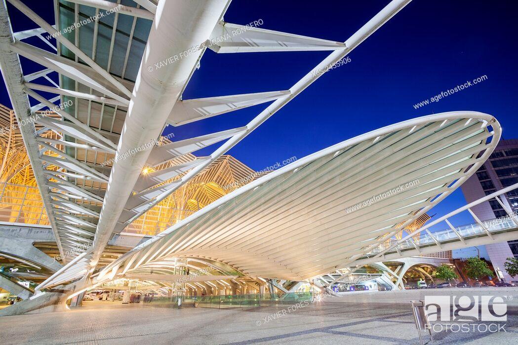 Imagen: Gare do Oriente in Parque das Nações - Oriente station in Park of the Nations - from Santiago Calatrava architect, Lisboa, Portugal.