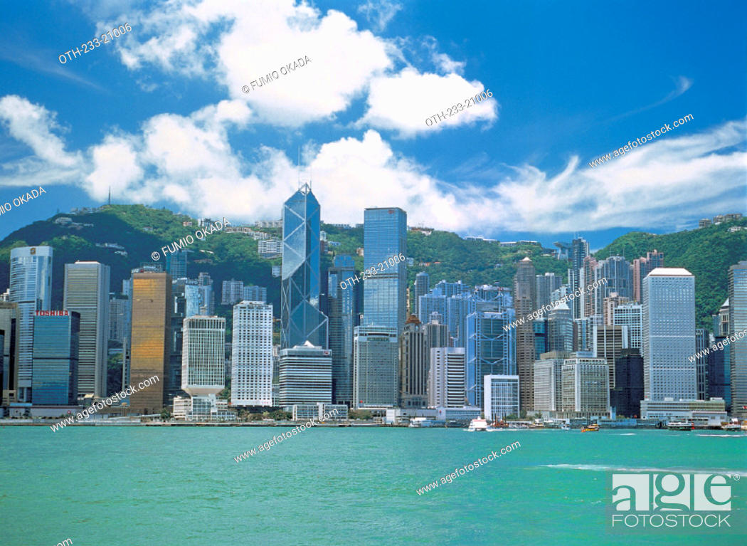 Stock Photo: Victoria Harbour, Hong Kong.