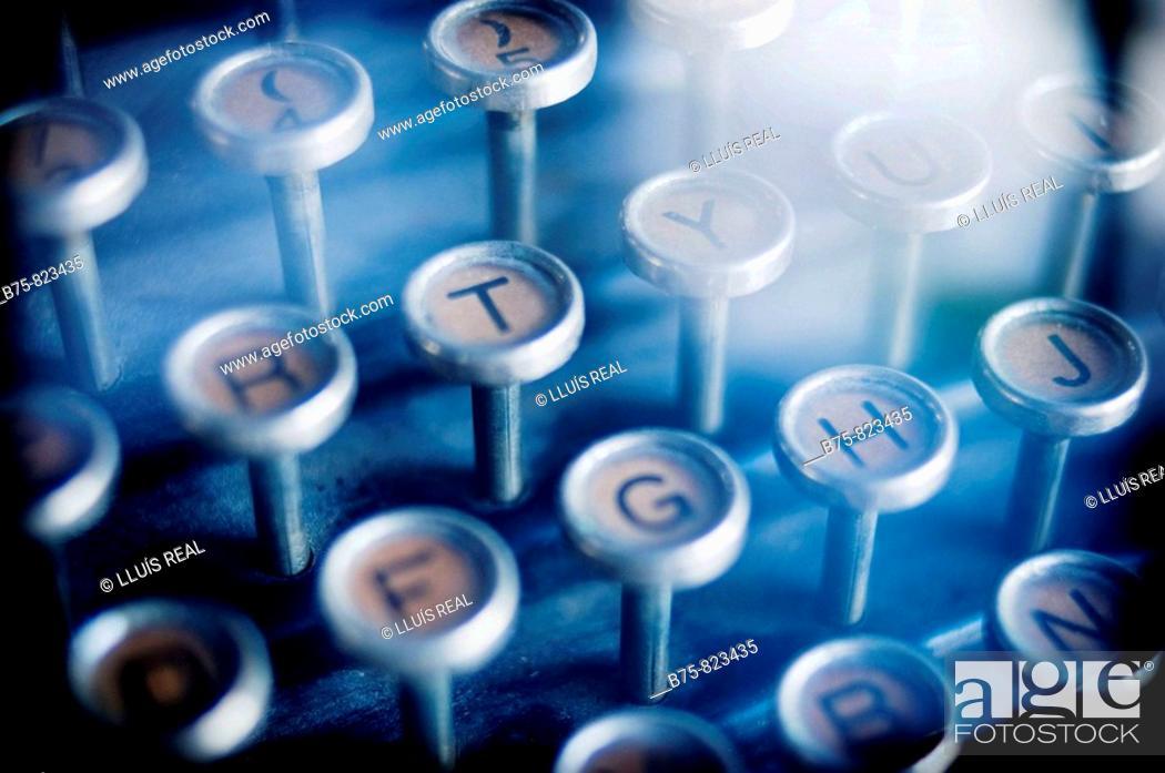 Stock Photo: Old typewriter.