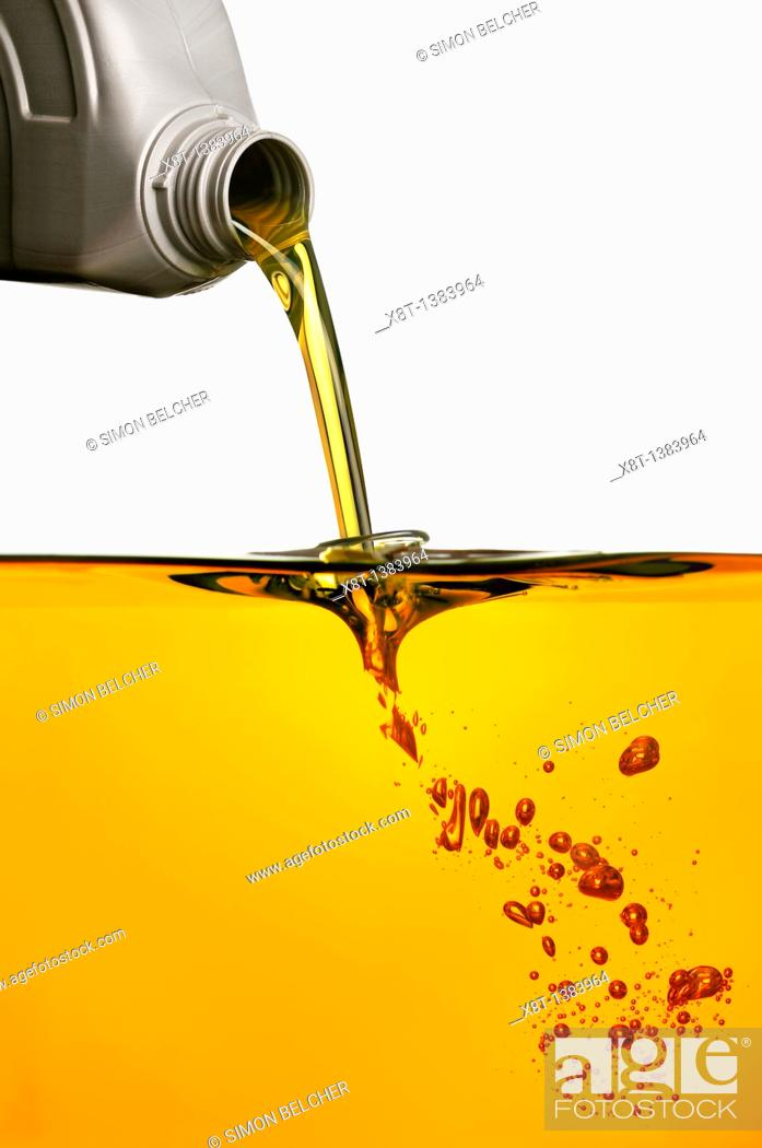 Stock Photo: Pouring Oil.
