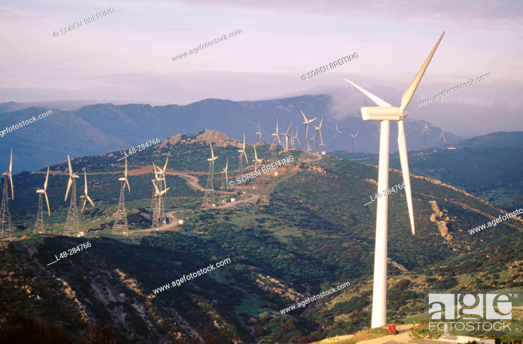 Stock Photo: Windmills, Spain.