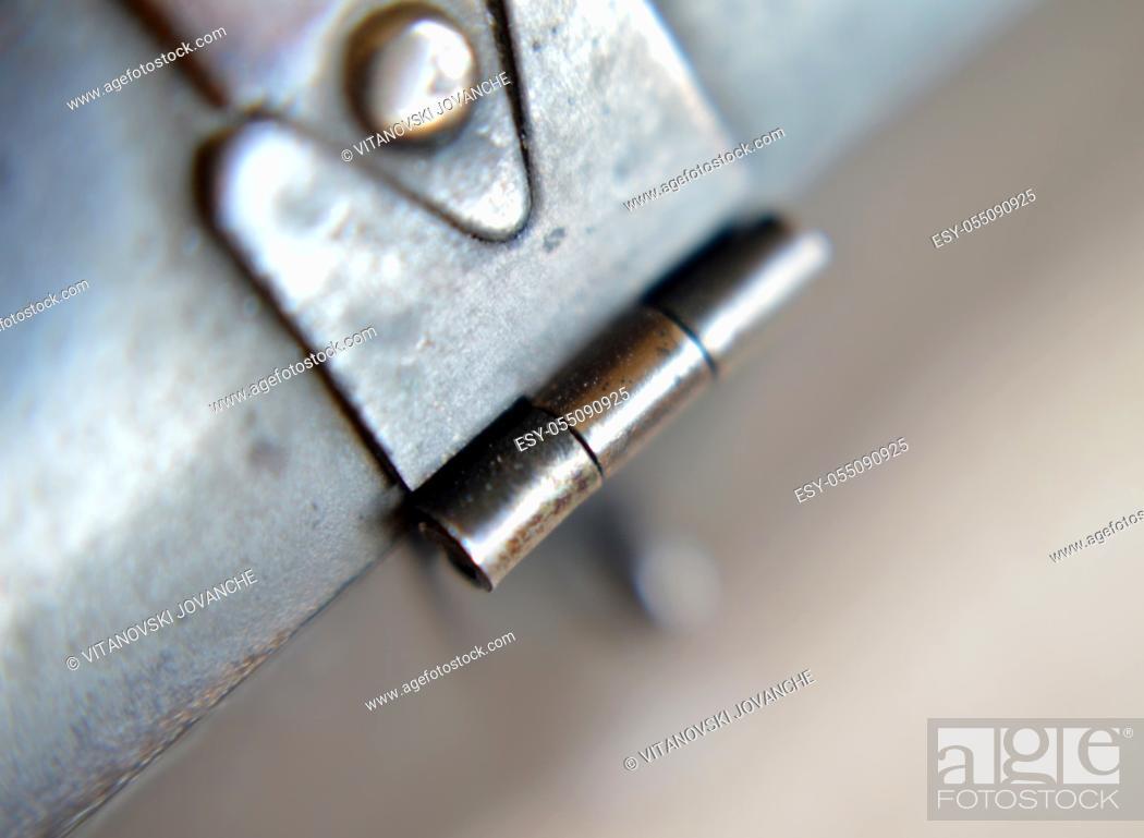 Photo de stock: vintage metal latch locking bolt locked door.