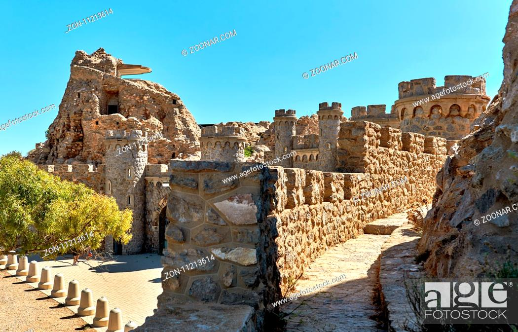 Stock Photo: Castillitos Battery, fortifications of Cartagena, province of Murcia. Spain.