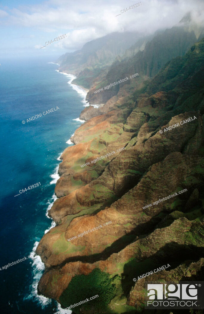 Stock Photo: Aerial view. Napali Coast. Kauai island. Hawai.