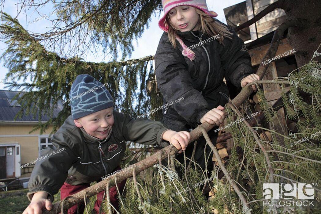 Stock Photo: Children, Sweden.
