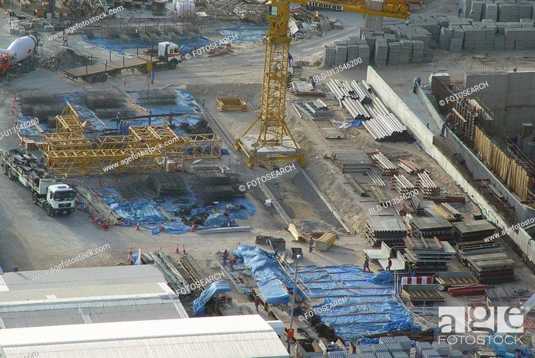 Stock Photo: dubai, construction, site.
