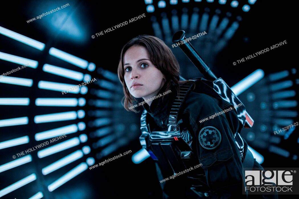 Stock Photo: Rogue One: A Star Wars Story. Jyn Erso (Felicity Jones).