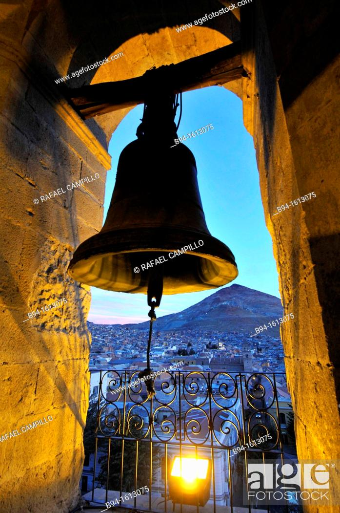 Stock Photo: Potosí, view from the Cathedral, city and the capital of the department of Potosí in Bolivia. It is one of the highest cities in the world by elevation at a.