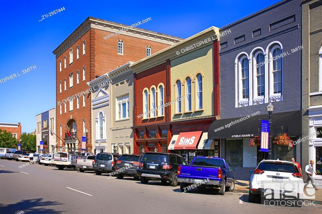 Stock Photo: The Public Square in downtown Murfreesboro TN, USA.