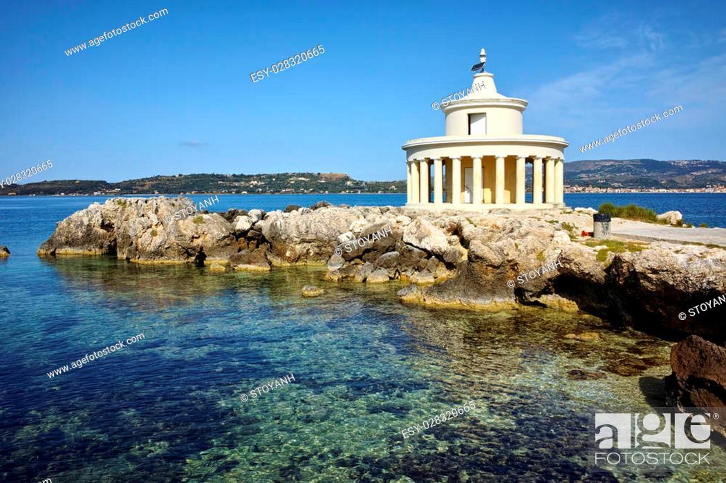 Stock Photo: Amazing Landscape of Lighthouse of St. Theodore at Argostoli, Kefalonia, Ionian islands, Greece.