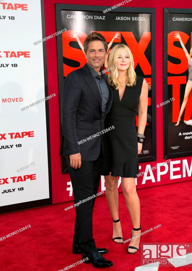 Stock Photo Premiere Of Columbia Pictures Sex Tape Arrivals Featuring Rob Lowesheryl Berkoff Where Los Angeles California United States When 10