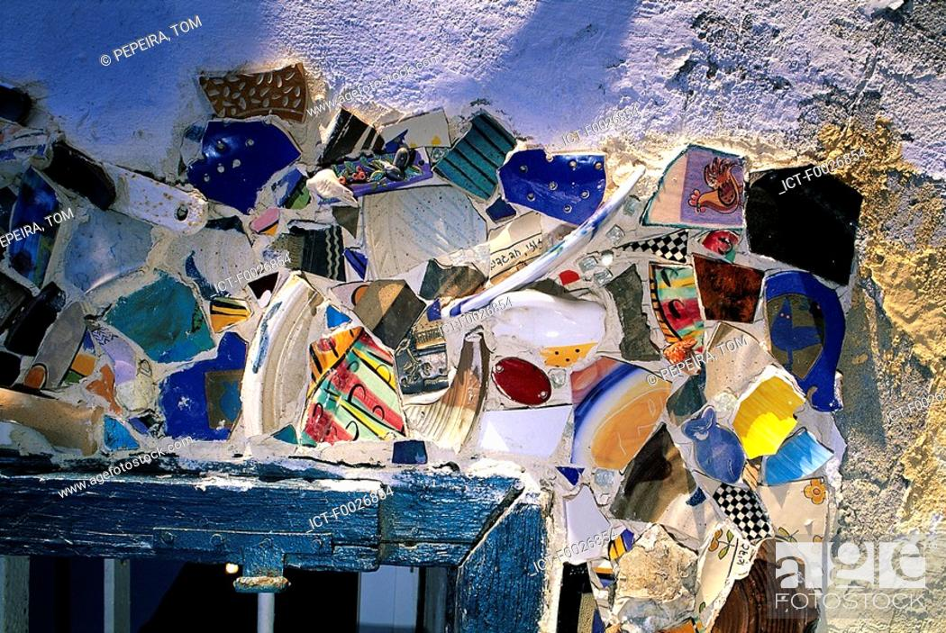 Stock Photo: Israel, Tel Aviv, close-up of a mosaic on a wall.