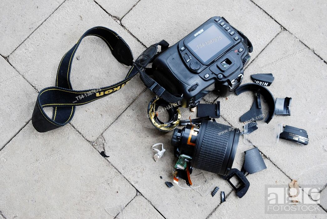 Stock Photo: Camera damage.