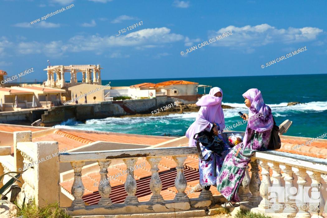 Stock Photo: Montaza Palace and Gardens, City of Alexandria, Egypt, Mediterranean Sea.