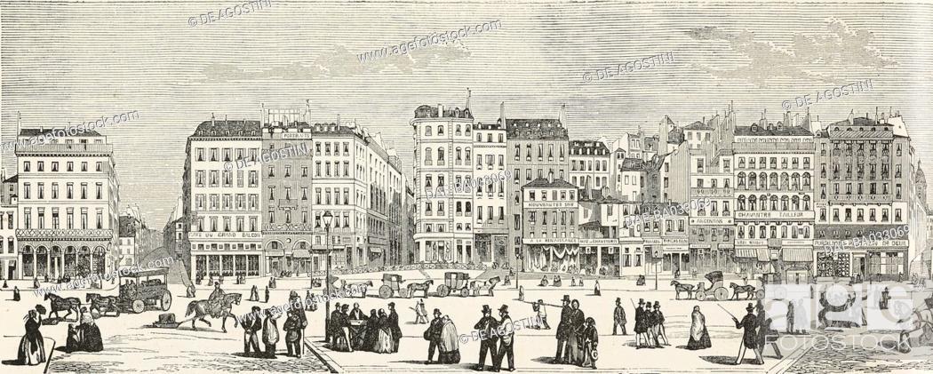 Imagen: View of Boulevard Saint-Denis and Boulevard Saint-Martin, Paris, France, illustration from L'Illustration, Journal Universel, No 130, volume V, August 23, 1845.