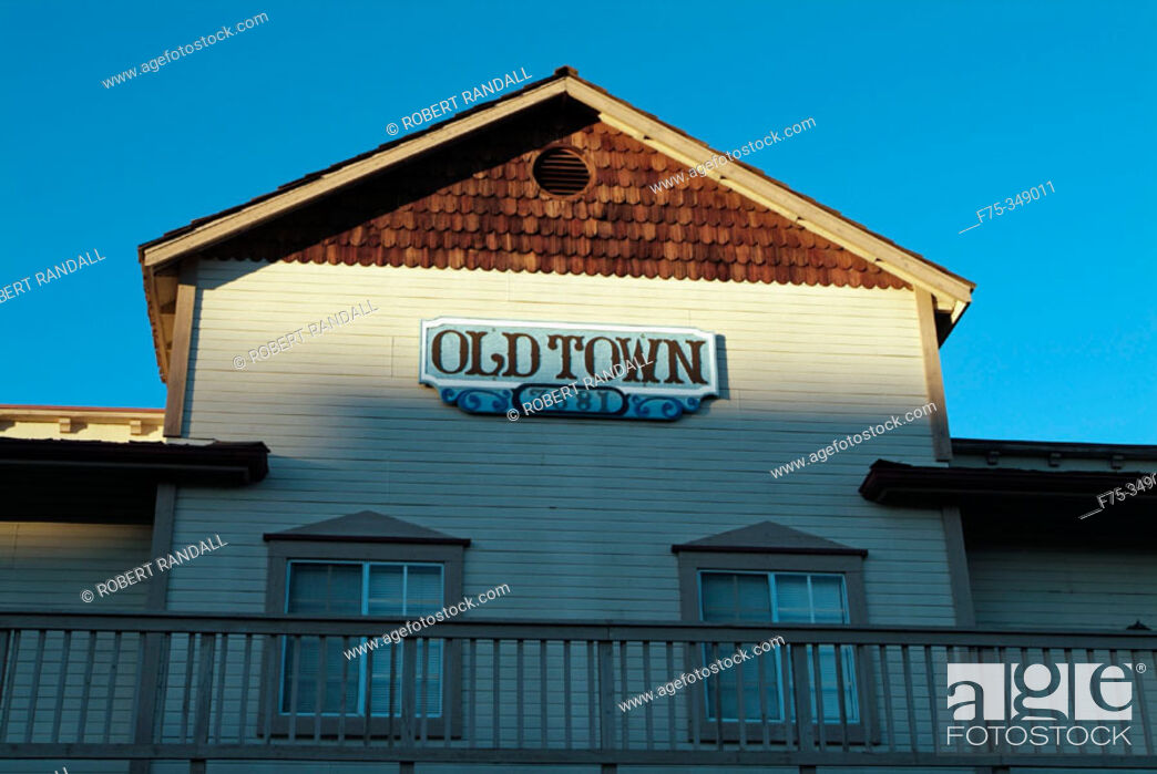 Stock Photo: Old Town sign in Napa. California, USA.