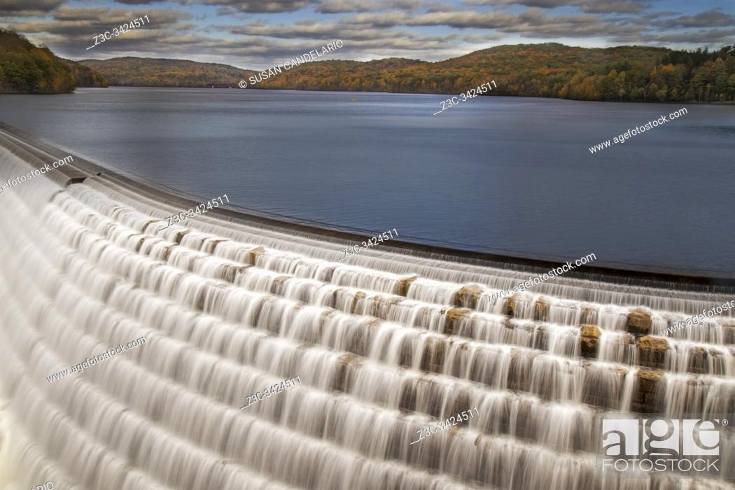 Stock Photo: New Croton On The Hudson Dam.