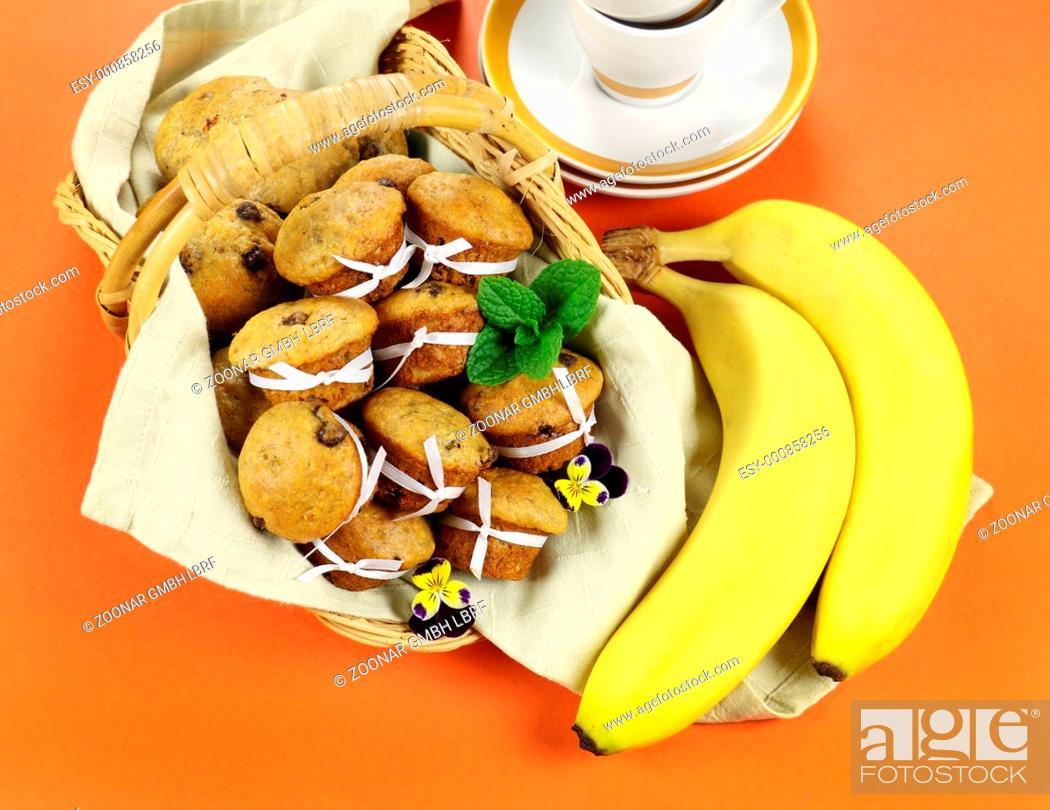 Stock Photo: Choc Chip Muffins.