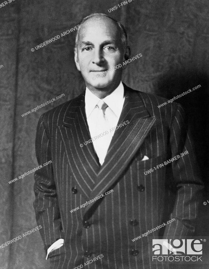 Stock Photo: New York, New York: c. 1946.A portrait of Robert Lehman, banker and head of Lehman Brothers.