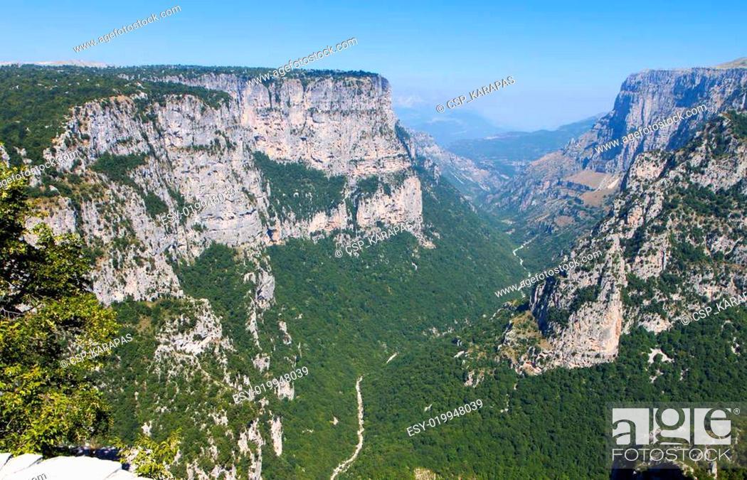 Stock Photo: Vikos gorge in Greece.