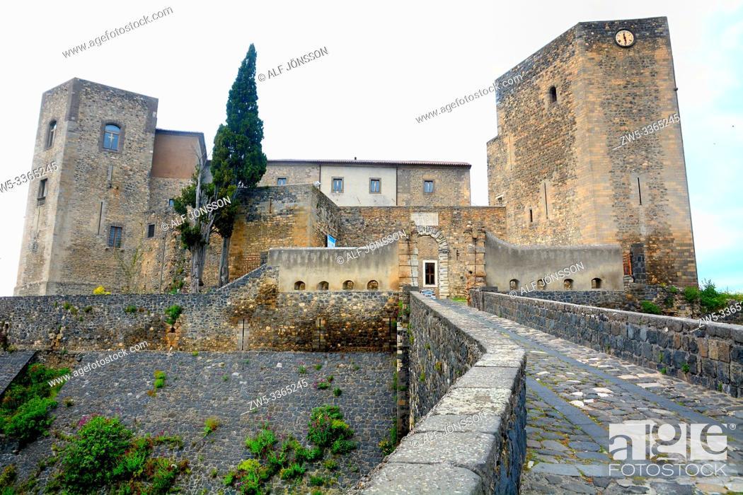 Stock Photo: The castle of Melfi, Potenza, Basilicata, Italy.