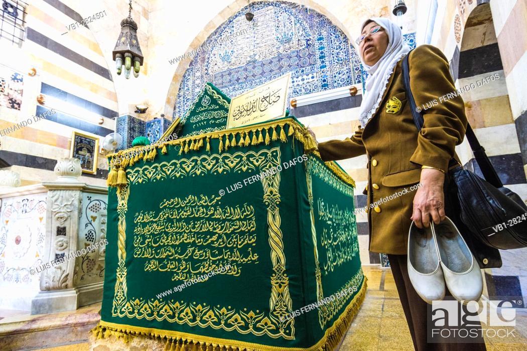 Stock Photo: Mausoleum of Saladin, Damascus, Syria.