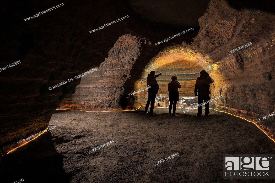 Stock Photo: Caves of Hella, Hella, Iceland.