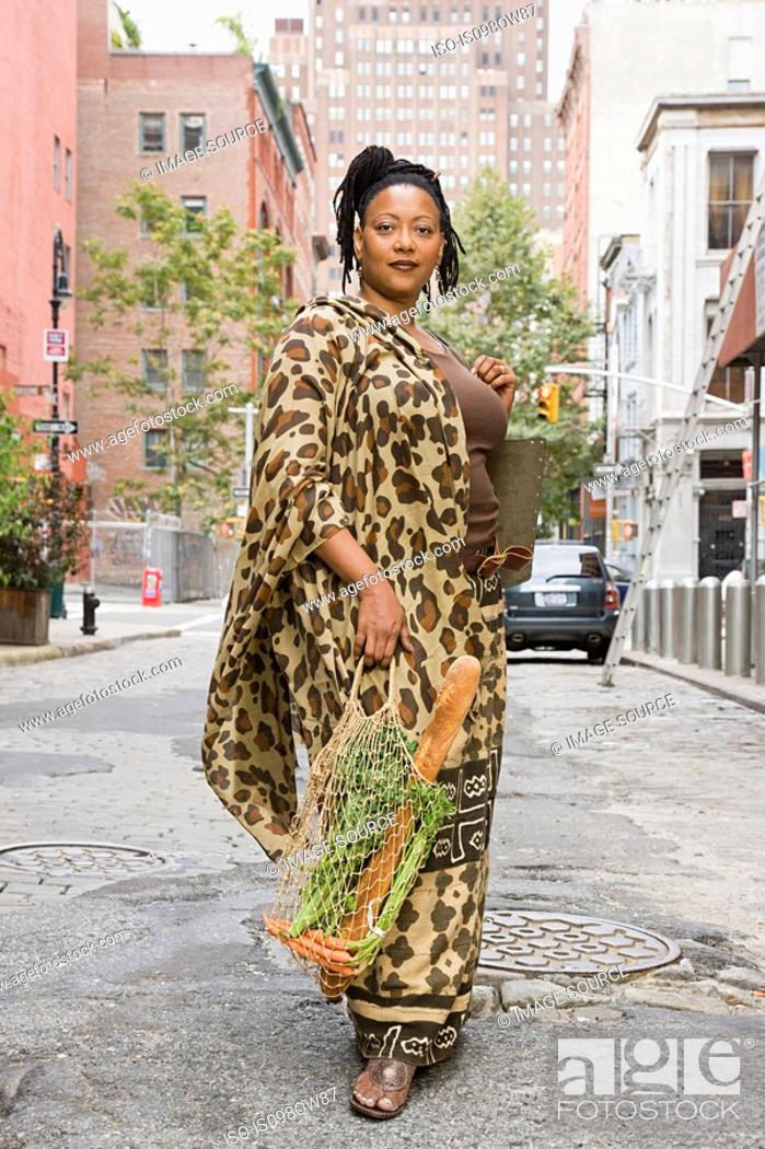 Stock Photo: Portrait of a mature african woman.