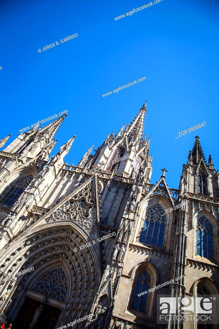 Stock Photo: Barcelona Cathedral. Spain.