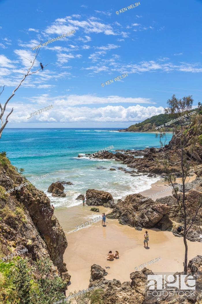 Stock Photo: Byron Bay, New South Wales, Australia. Beach. Cape Byron, just outside of town, is the eastern-most point of mainland Australia.