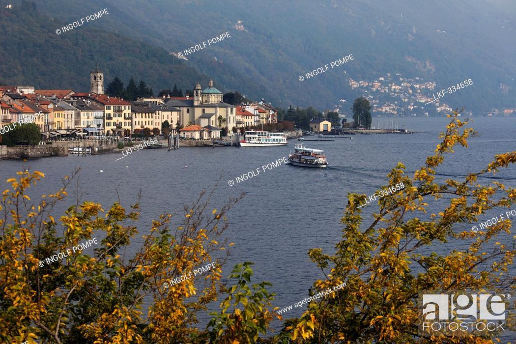 Stock Photo: Seafront, Cannobio, Lago Maggiore, Piedmont, Italy.