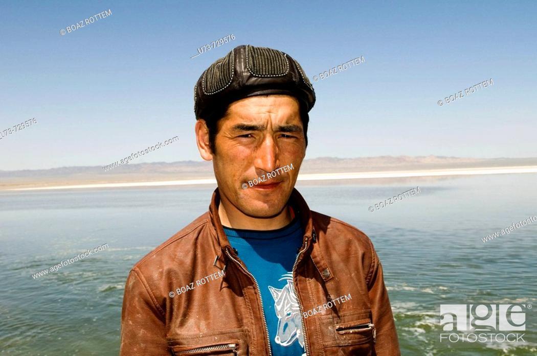 Stock Photo: A friendly Kazakh man.