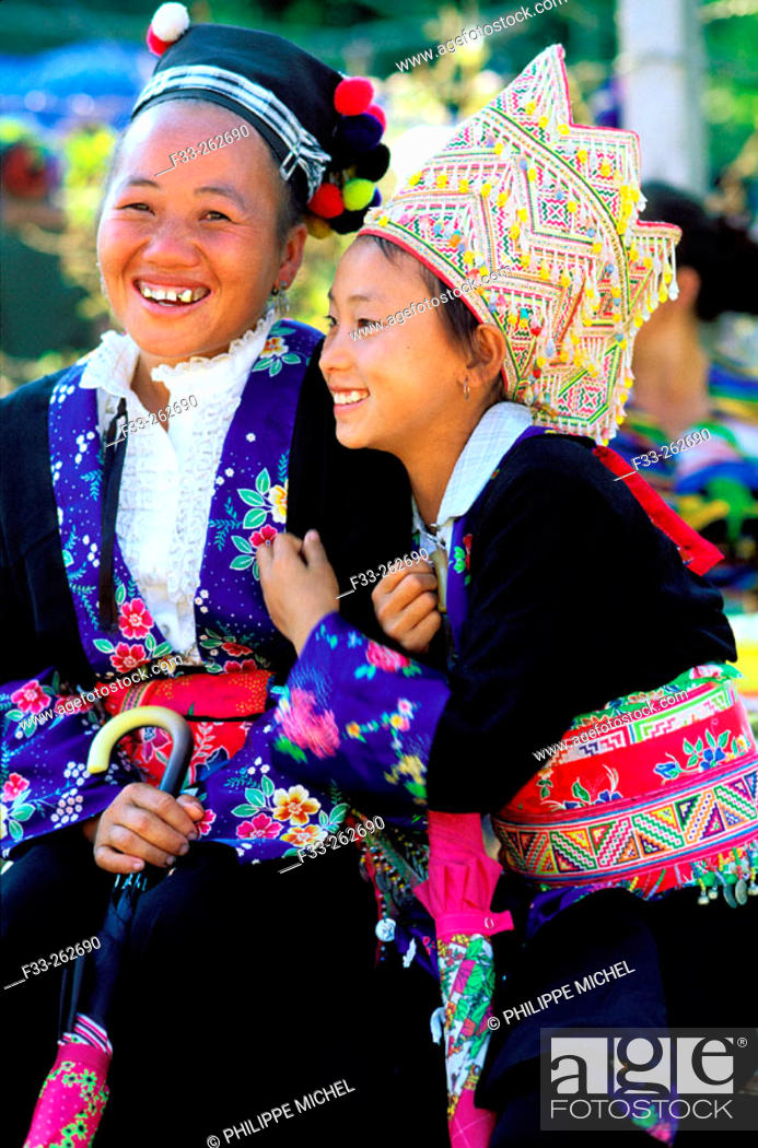 Stock Photo: Hmong women. Luang Prabang. Laos.