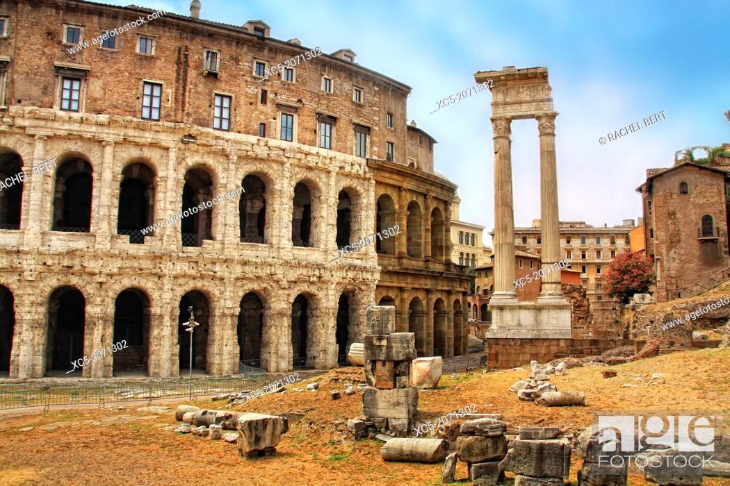 Stock Photo: Teatro di Marcello, Rome, Italy.