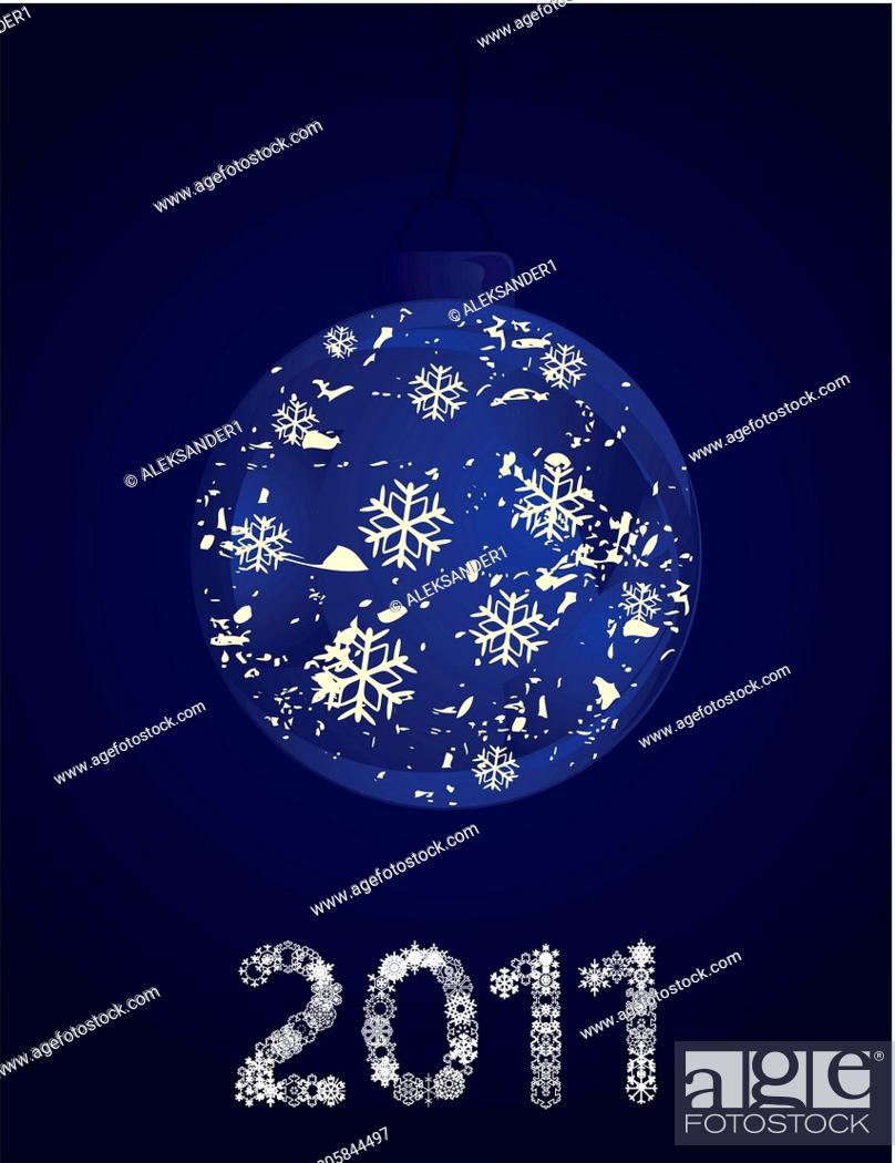 Stock Vector: New Year's sphere.